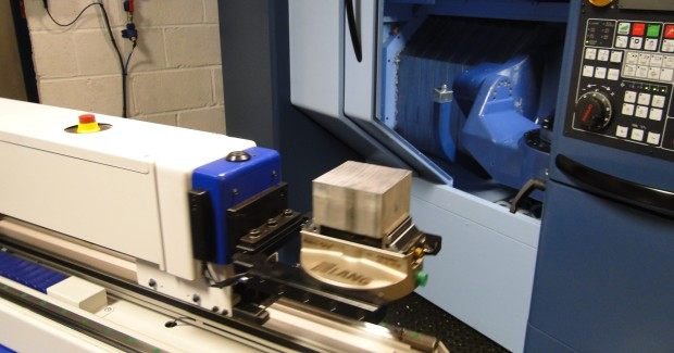 Thame worked directly with Matsuura to interface the automatic opening and closing of the machine tool door and the necessary steps required to clean swarf and coolant from the part with its Clean-Tec fan before unloading.