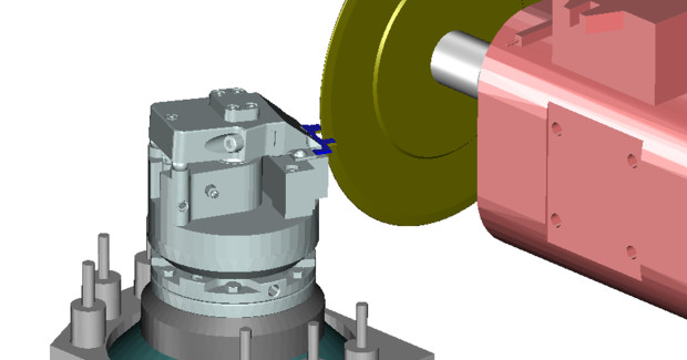 By enabling the entry point of the grinding wheel to follow the corner radius of the cutting edge, the software now facilitates the grinding of a defined rake angle on complex body forms and on cutting edges which pass from the body of the tool to its tip – a task that was previously extremely difficult to achieve.