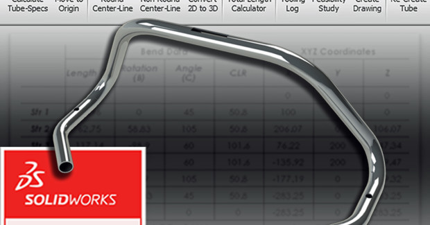 In addition to its manufacturing data extraction capabilities, the TubeWorks add-in from Unison offers a host of powerful functions to further help users minimize the pre-production design time of machine-based tube bending, including automated centerline creation through tubular geometry (for both round and non-round profiles) and automated conversion of imported tube models into native SolidWorks models for CLR (centerline radius) modification.