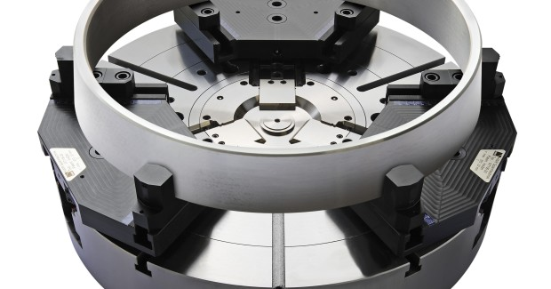 The InoZet system from Thame Workholding changes a three-jaw chuck into a compensating six-jaw chuck. Its InoTop system aligns the part from the outside but clamps it internally, making it ideal for thin walled components, and its InoGrip system achieves 10 times higher holding force with minimum clamping pressure, through its patented stamping technique.