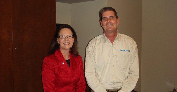 Justice Sharon L. Kennedy and Chuck Gehrisch, Roll-Kraft president.