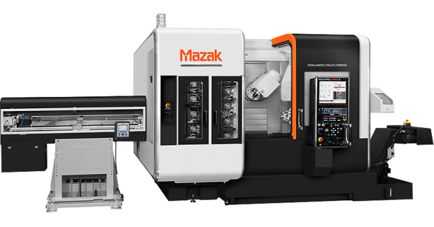 An Intelligent Bar Loader System on the Mazak INTEGREX i automatically feeds out material the required distance from the chuck and minimizes the bar remnant. Furthermore, the optional chuck pressure management system automatically changes by part program for a wide variety of workpieces. The system maintains not only the set chuck pressure per workpiece, but also the same pressure when changing material.
