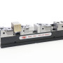 """The OML CIVI Rail vise with moveable jaws from Lexair provides """"anywhere"""" positioning on tombstones and fixture plates, with 60 deg serrations that increase clamping area for improved accuracy and repeatability on precision parts."""
