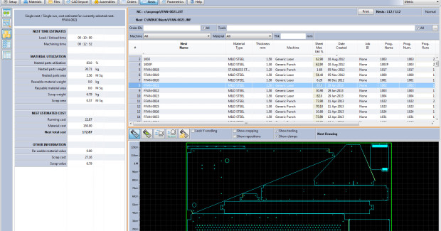 JOC Premium from JETCAM provides more advanced functionality, such as CAD import, tool identification/reporting, along with part and selective nest costing. JOC Premium Automation provides all of the functionality of JOC Premium but allows JETCAM Expert to be instructed completely automatically.