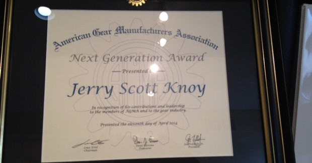 "The Next Generation award from AGMA ""honors individuals who, while early in their career, are emerging as contributors, innovators and/or leaders in the gear industry and who serve as role models for others in the next generation of the gear industry,"" according to the AGMA Awards Committee."