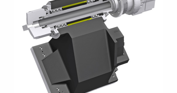 The 6 in sub spindle with C-axis offers 0.001 deg indexing and is driven by the B-axis ballscrew and servomotor to ensure high precision and accuracy.
