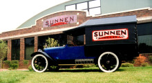 The Hupmobile is still on display at the St. Louis headquarters.