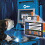 The new LiveArc™ reality-based training system is designed to recruit, screen, train and manage welding trainee performance — all via a live welding arc. (first view)
