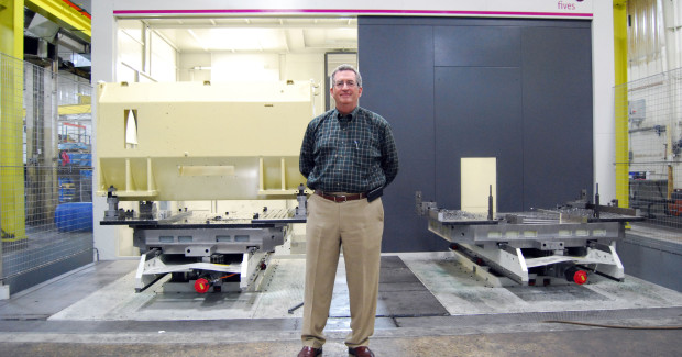 "The Fives Giddings & Lewis MC Series brings machining center capabilities to horizontal boring mills for automated large-part production. ""Our primary business is large parts, some with more than 300 machined features, so the new boring mill not only expands our part capacity, it also boosts our efficiency with pallet changing and machining center capabilities,"" said Mike Manna, General Manager, Milwaukee Machine Works."