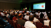One of the many presentations held at the Global Reseller Conference.