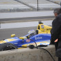 Along with a tour of the Andretti Autosport garage and a catered lunch in the team's suite at the track, guests got to visit the pits to get a firsthand view of the Indy cars.