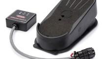The Wireless Pedal makes it easier to access hard-to-reach areas. The receiver features an LED display that indicates the status of foot pedal battery life, welding output and signal integrity. It also includes a power cable adapter requiring 115V service. Extension legs adapt the pedal for use at an angle or on irregular surfaces.