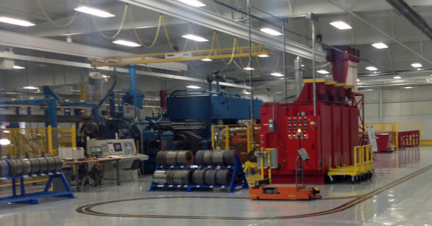 With the new equipment, shop production throughput has doubled and aluminum billet recovery has improved.