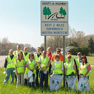 The employees of IMI make it their mission to help clean up Hwy M-75.