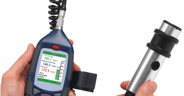 The CEL-712 Microdust Pro monitor, a small, rugged, hand-held instrument that measures concentrations of inhalable powders in real-time for display on its high-contrast color LCD.