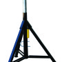 "The Sumner Fat Jack is capable of handling pipe up to 36 in diameter and has an adjustable height range between 38 in (96 cm) and 52 in (132 cm). The folding Fat Jack also has the added feature of a convenient carrying handle. The ribbed vee head strengthens the vee frame to prevent bending or ""pancaking"" that may occur with heavier loads on standard vee heads."