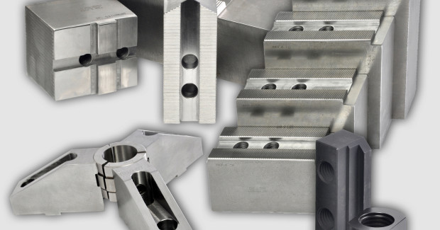 Booth W-2134: Dillon offers a complete lineup of jaws for Serrated, T & G, Acme, and Square Key type chucks.