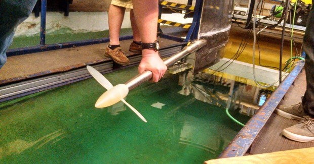 Testing of the 3D-printed propeller was successfully performed on the test stand at the University of Michigan's Engineering Department.