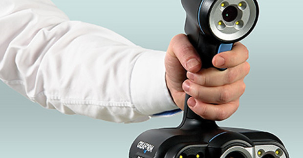 The Go!SCAN 50 from Creaform is designed to measure the shape of medium to larger parts and offers optimal flexibility, an accuracy of up to 0.1 mm (0.004 in.), and resolution of up to 0.2 mm (0.008 in).