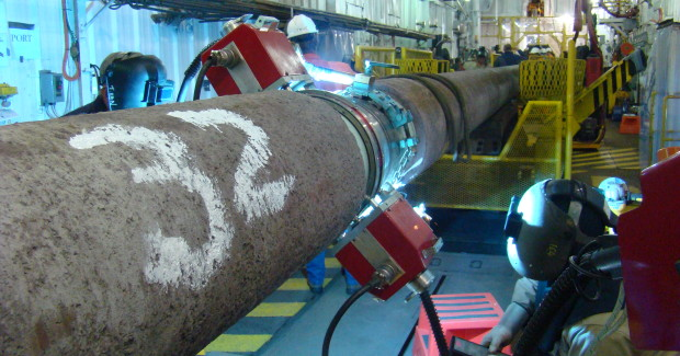 The consistent and repeatable weld quality of new orbital welding systems reduces weld defects to achieve high productivity rates, and meets the harsh demands of environmental conditions to reduce field serviceability and downtime. (photo courtesy of Lincoln Electric)