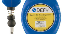 Defy™ Self-Retracting Lanyards have a sturdy, yet lightweight housing unit that doesn't drag behind a worker or obstruct their movement.