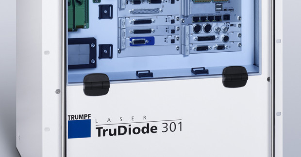 The TruDiode 301 supplies 300 watts of laser power to the work piece. Wavelength range is between 920 Nm to 970 Nm with CW or modulated CW up to 3kHz.