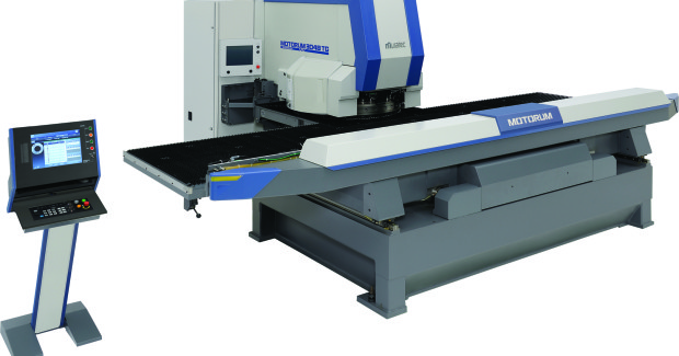 Both the Motorum M3048TG (shown here) and M3058TG are available in either Wiedemann or Spring Style tooling. The powerful ram drive delivers 33 tons of heavy-duty punching force at 510 hits per minute with servomotor drive mechanisms that only use energy while punching.