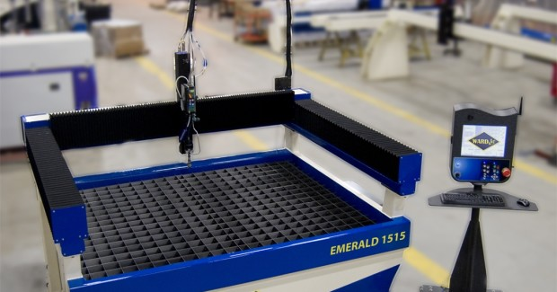 The Emerald Series allows operators to load material into the cutting area from all four sides. The system is also capable of indexing sheets of unlimited length in all directions – a feature no other low cost waterjet offers.