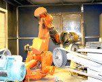 Robotic metal polishing; Mico Industries.
