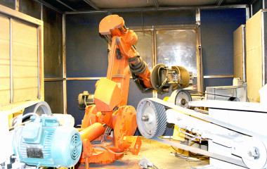 Robotic metal polishing; Mico Industries.