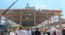 The construction shell of Concept Laser's new 3,500 sq m production facility inLichtenfels.
