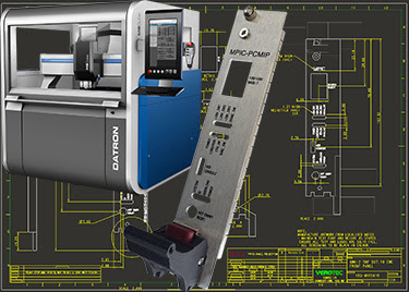 The Datron M8Cube machining center used by Verotec features a 1020 mm x 830 mm x 245 mm XYZ traverse path to machine large individual panels or multiple nested small panels, a 10 tool changing station, vacuum workpiece clamping and automatic XYZ measurements.