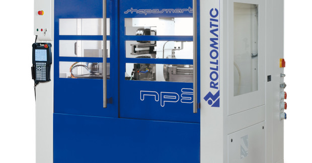Booth N-7200: The ShapeSmart® NP3 single-wheel cylindrical grinder from Rollomatic is particularly suited as a versatile peel grinder for manufacturing blanks for the cutting tool industry, precision punches and other similar parts. (second view)