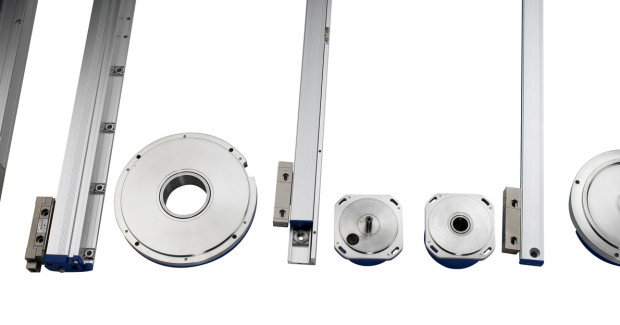 Booth E-5224: The new G and SV series linear encoders from Fagor Automation incorporate the patented TDMS® (Thermal Determined Mounting System) that allows for minimum error deflection regardless of the environment by controlling the expansion and contraction of the scale. The positioning errors originating from machine mechanics are minimized as the encoder is directly mounted to the machine surface and the guide ways. The encoder sends the real machine movement positional data to the CNC, therefore, mechanical errors due to thermal behavior, pitch error compensation and machine backlash are minimized. (first view)