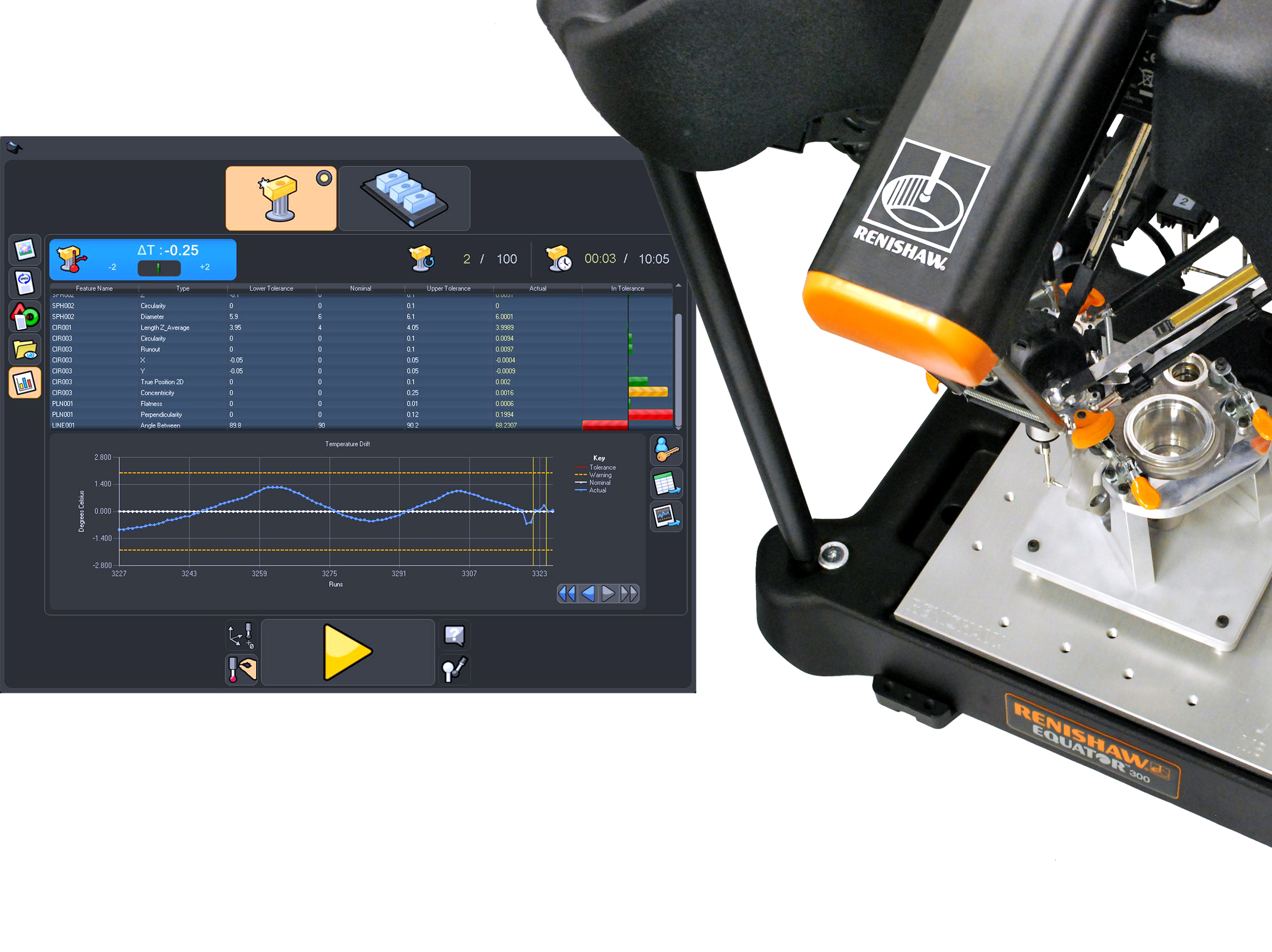 Imts 2014 Quality Assurance Laser Cutting Machine For Printed Circuit Boards With Inline Measuring Booth E 5510 The New Equator Comparative Gauging System Process Monitoring Software From Renishaw Displays Measurement Results Of Inspected Features