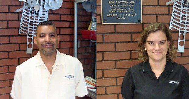 Hyde employees - Armando Gonzalez (left) and Sarah Kratz (right).