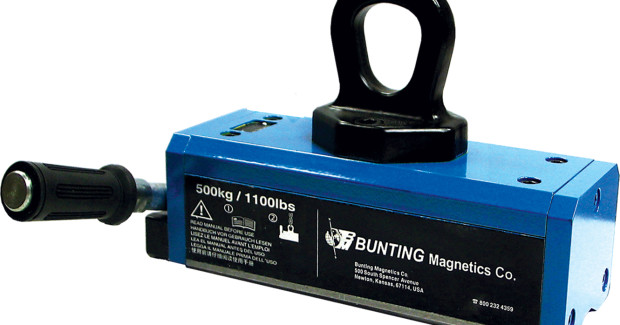 Booth N-7358: Bunting Magnetic Lifters make moving heavy metal items on the factory floor safe, simple, and quick.