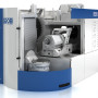 Booth S-9490: The G-350 universal machining center from Grob requires less floor space than other machines with the same work zone. Its original spindle design accommodates very long tools (365 mm/14.3 in) with no interference, even with the largest work piece size. The maximum part is a 600 mm cylinder with 500 mm in height (Ø 23.6 in x 19.7 in). The G-350 will be paired with a Schuler 12 pallet system at the show to demonstrate automated scheduling and handling.