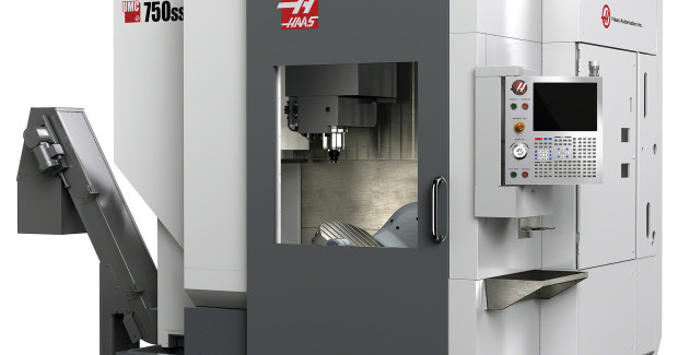 Booth S-8119: The UMC-750SS universal machining center from Haas has a high-speed, roller-cam trunnion table that offers 150 deg/sec feedrates to quickly position parts to nearly any angle for 5-sided (3+2) machining, or provide full simultaneous 5-axis motion for contouring and complex machining. The trunnion provides +110 deg and -35 deg of tilt and 360 deg of rotation for excellent tool clearance and large part capacity, and the 630 mm x 500 mm table features standard T-slots and a precision pilot bore for fixturing versatility.