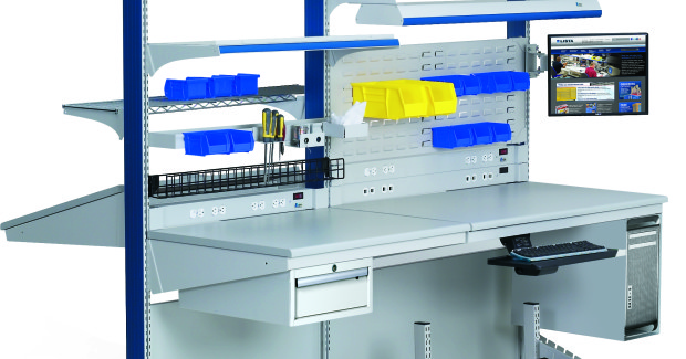 The durable and ergonomic Arlink® 8000 All-Purpose Workbench offers flexible reconfiguration of bench length, worksurface depth and benchtop height for demanding industrial environments.
