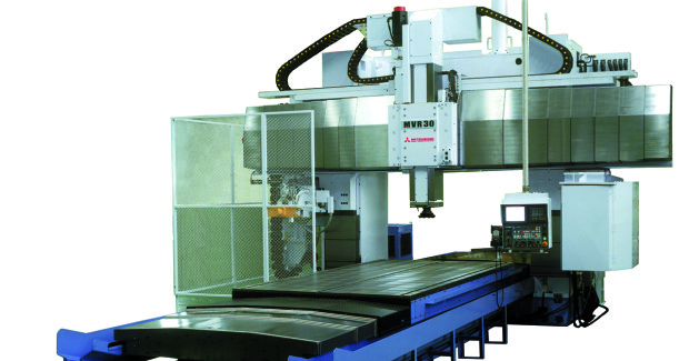 Booth S-8640: Large part machining from Yamazen will be displayed on the MVR30 five-face moving rail bridge and the all new MAF-E large capacity table-type horizontal boring machine (shown) from Mitsubishi Heavy Industries.