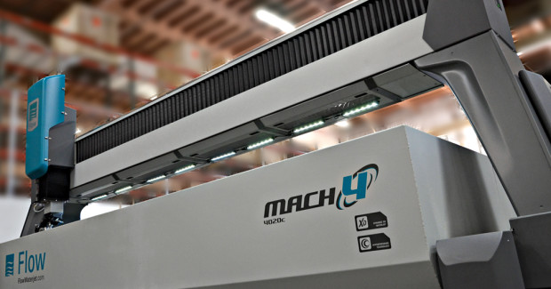 Booth N-6217: The Mach 4c from Flow offers a variety of features unique in the waterjet industry, including an expandable modular design, up to 14 m (48 ft) in length, allowing shops to increase the size of the cutting area as their business grows.