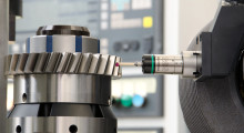 Booth E-5519: When used for gear grinding, the G25 gauging probe from Marposs identifies the part location and tooth spacing for purposes of aligning the part with the grinding wheel prior to grinding. The same device is then used to scan the profile of the finished part in a continuous cycle. The new gauging probe has excellent measurement stability at high speeds, enabling a significant reduction in inspection time compared to using a touch probe.