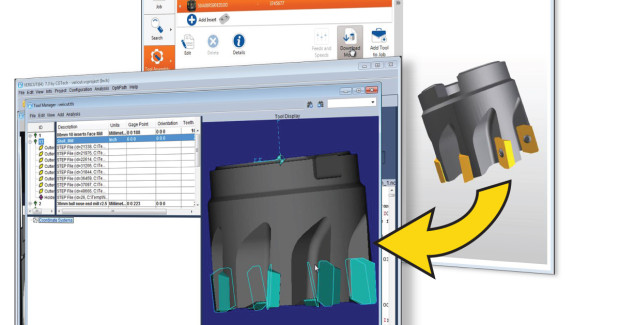 Booth E-3346: As a result of the CGTech-Kennametal partnership, VERICUT users can directly download a Kennametal tool assembly and use it within VERICUT software with significantly fewer steps compared to manually configuring a tool for use in a simulation session.
