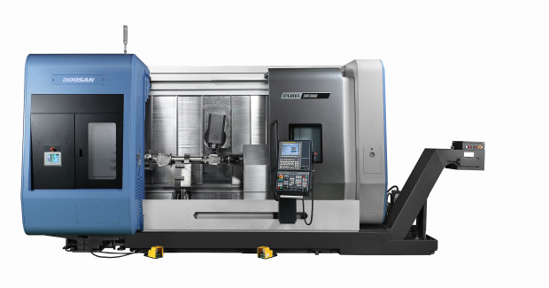 Booth S-8100: By integrating the capabilities of multiple machines into one system, the Puma SMX Series from Doosan provides best-in-class machining capabilities by using multi-tasking functions that facilitate a reduction in machining time and the number of machining operations.