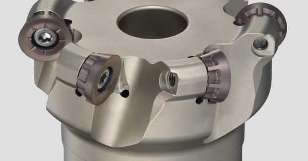 The highly durable, special alloyed steel body of the RSX Radius Mill Cutter is protected by a hard surface treatment. The round pocket design eliminates insert rotation during aggressive machining.