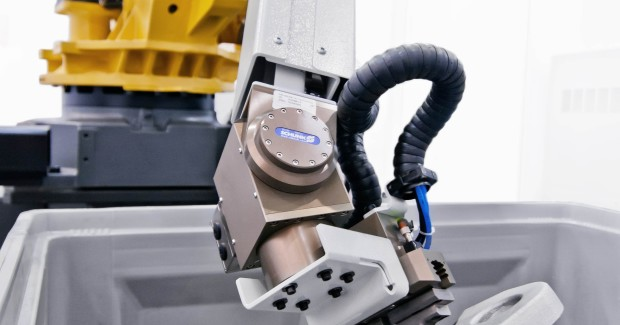 Booth N-6930: This custom Robotic Bin Picking solution from Liebherr can increase productivity and efficiency for components weighing between 1kg and 50 kg in the automotive, aerospace, general machining, and commercial vehicles industries by achieving the cycle times and high availability rates required by manufacturers.