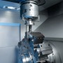 Booth N-6846: The VL 2 vertical pick-up lathe from EMAG series opens up new opportunities for the machining of a wide range of chucked components. Small gearwheels, planetary gears, sun gears, sliding sleeves, synchronizer rings or flanged components, for example, can be machined with great efficiency. (first view)