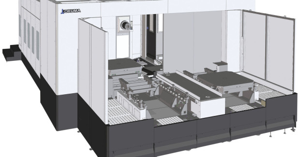 Booth S-8500: The MA-12500H horizontal machining center from Okuma is equipped with a 50 taper 6,000 rpm, 60/50 hp spindle. It is also available with either a 12,000 rpm wide range spindle or 4,500 rpm heavy duty spindle.