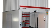 The VLM180 Vertical Lift Modules can reach a height of up to 40 ft with the option to ascend in 6 in increments, within the elevated racking systems. It lifts and stores parts, equipment and supplies up to 500 lb per tray.
